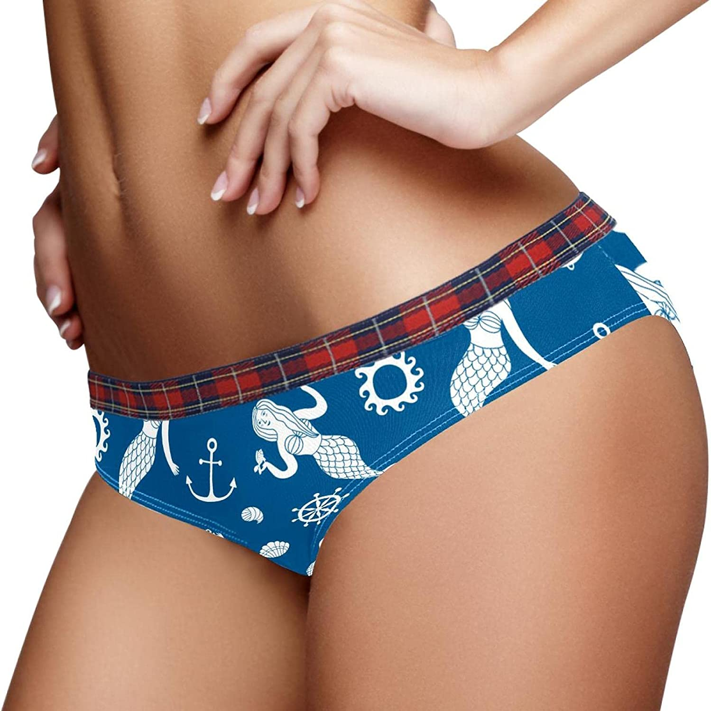 Women Panties Stretch Cartoon Tampa Mall Mermaids Ladies Hipster Max 48% OFF S