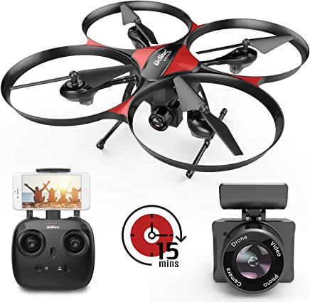 $89 Get DROCON Wi-Fi Drone with FPV 720P HD Camera and Real-time Video, Quadcopter Designed for Beginners with a 15-min Flight Time, Altitude Hold, Headless Mode, 4GB TF Card Included