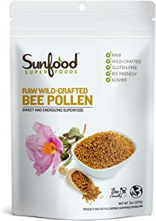 Sunfood Superfoods Bee Pollen Granules - Raw, Wild-Crafted - High Intensity Superfood Rich in Vitamins - Complete Protein ...