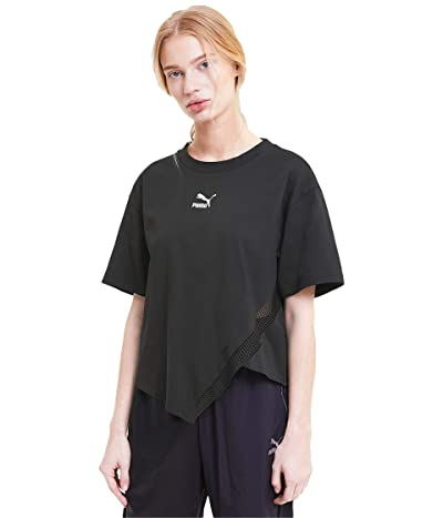 PUMA T7 Fashion Tee (Cotton Black) Women