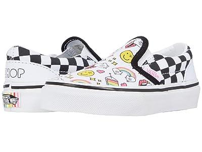 Vans Kids Classic Slip-On (Little Kid) ((Flour Shop) Icons/Checkerboard) Kids Shoes