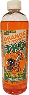 Organic Orange TKO Pet Power Super Concentrated All Purpose Citrus Cleaner, Degreaser, Deodorizer, Stain Remover, Pet Safe, Non Toxic, Eco Friendly, Disinfectant Odor