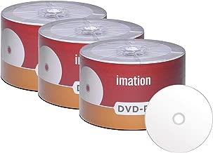 150 Pack Imation DVD-R 16X 4.7GB/120Min White Inkjet Hub Printable Blank Media Recordable Movie Data Disc