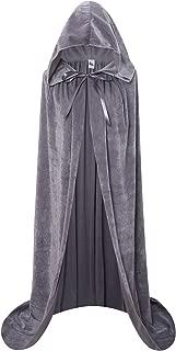 Unisex Hooded Cloak Long Velvet Cape For Halloween Christmas Cosplay Costume
