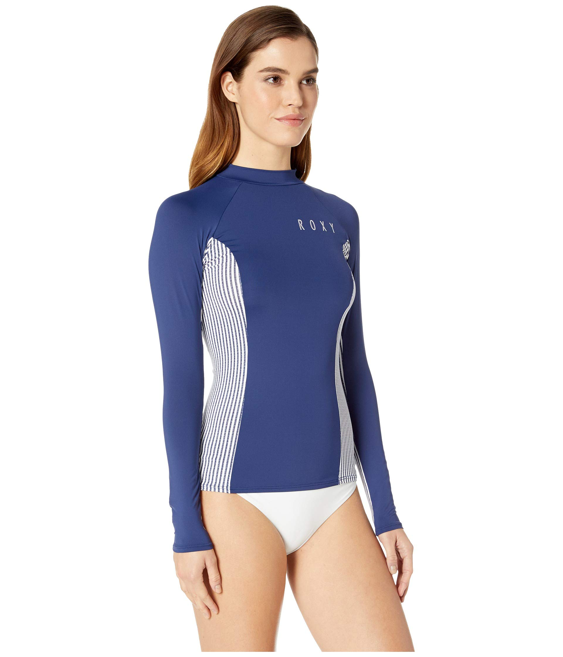 Sleeve Love Roxy Medium Stripe Softly Rashguard Printed Long Blue Cornfield xqHnqrTIwS