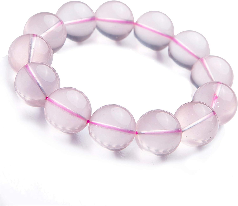 Star Light Natural lowest price Rose Quartz Ranking TOP4 Crystal Big Bead Bracelet Round 1