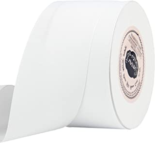 VATIN 2 inches Solid White Grosgrain Ribbon Spool -25 Yards, Great for Sewing, Gift Wrapping, Hair Bows, Flower Arranging, Home Decorating