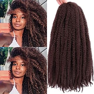 Marley Braids Hair Afro Kinky Curly Marley Curl Twist Braid Hair Extensions Kanekalon Synthetic Twist Crochet Hair 18 Inch (33#)