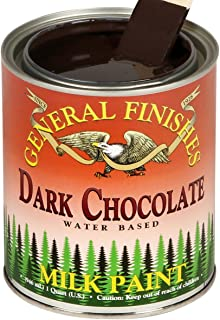 General Finishes GDC Water Based Milk Paint, 1 Gallon, Dark Chocolate