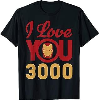 Marvel Avengers Endgame Iron Man I Love You 3000 Helmet Logo T-Shirt