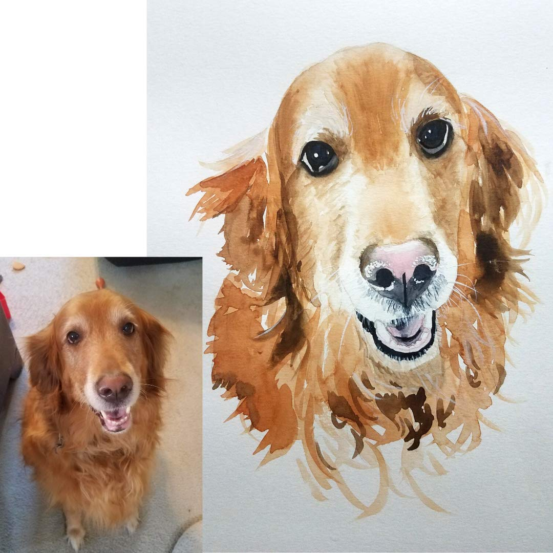 Pet Portrait, Pet Portraits by Laura, Custom Dog Painting, Custom Horse  Portrait, Watercolor on Paper from YOUR PHOTO 18