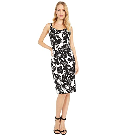 Trina Turk Zile Dress (Black/White Wash) Women
