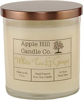 Apple Hill Candle Company Natural Soy Candle - White Tea & Ginger (9 oz.)
