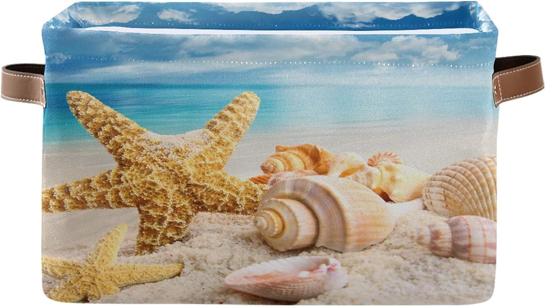 AUUXVA Ombra Trust Storage Basket Sea Starfish Stora Max 52% OFF Shell Beach Ocean