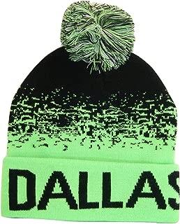 Fashion Headwear Dallas Men's Digital Fade Soft Fabric Winter Knit Hats