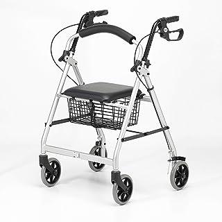 Patterson Medical - Andador ligero de aluminio con ruedas,