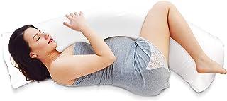Almohada Embarazada con Relleno y Funda Confortable (Oeko-Tex) - Almohada de Maternidad con Soporte Cómoda Almohada de Cuerpo Entero - Cojin Lactancia
