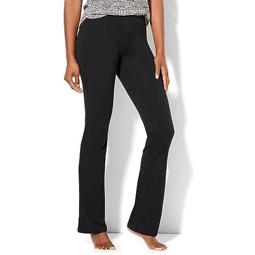 1c67e49df29 New York   Co. Women s Tall Bootcut Yoga Pant Medium Black