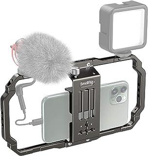SmallRig Smartphone Video Rig, Filmmaking Vlogging Rig Metal Case Phone Video Stabilizer Aluminium Alloy Grip Tripod with ...