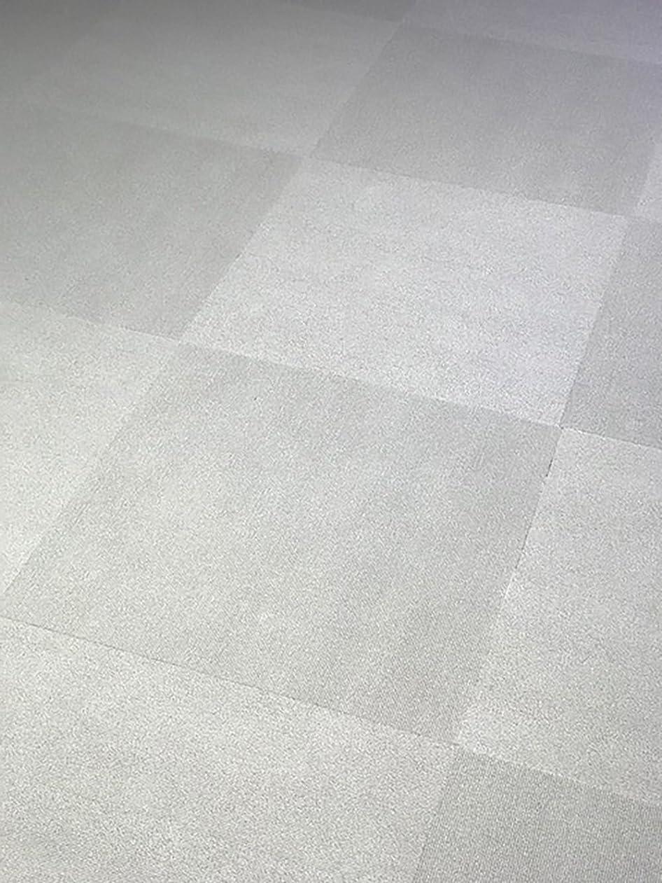 勝つドロー倒錯タイルカーペット 白 (ピュアホワイト) FINETILE 50cm×50cm 16枚(ケース)