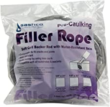 Sashco 30110 Pre-Caulking Filler Rope Backer Rod, 5/8-Inch x 20-Feet, Gray