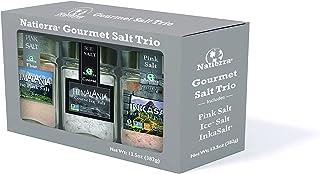 NATIERRA Salt Trio | Himalania Pink Salt, Himalania Ice Salt & InkaSalt Pink Salt | Unrefined | Non-GMO | 1...