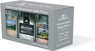 Natierra Himalania Salt Trio - Pink Salt, Ice Salt, InkaSalt, 13.5 Oz (Variety Pack)