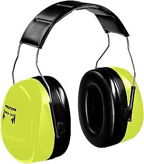 3M (Formerly Aearo) H10AHV Peltor Optime 105 High-Viz Green Over-The-Head Earmuffs with Liquid/Foam Earmuff Cushions, Plastic, 4.3