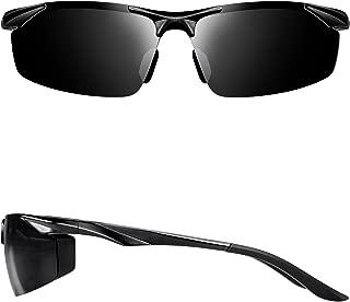 Men's Sports Polarized Sunglasses Driver Golf Fishing Al-Mg Metal Frame Ultra Light