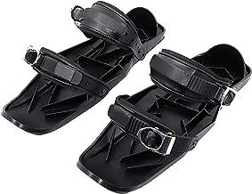 TGYY Mini skischoenen, skateskates voor sneeuwschoenen, draagbaar nylon, zwart, één maat, metalen gesp, skischoenbeschermi...