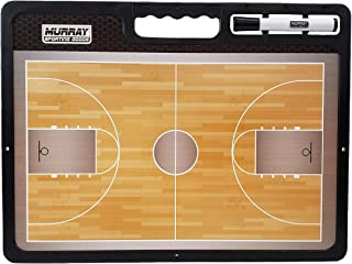 Murray Sporting Goods Premium Basketball Coaches Marker Board | Double-Sided Dry Erase Premium Basketball Coaching Clipboa...