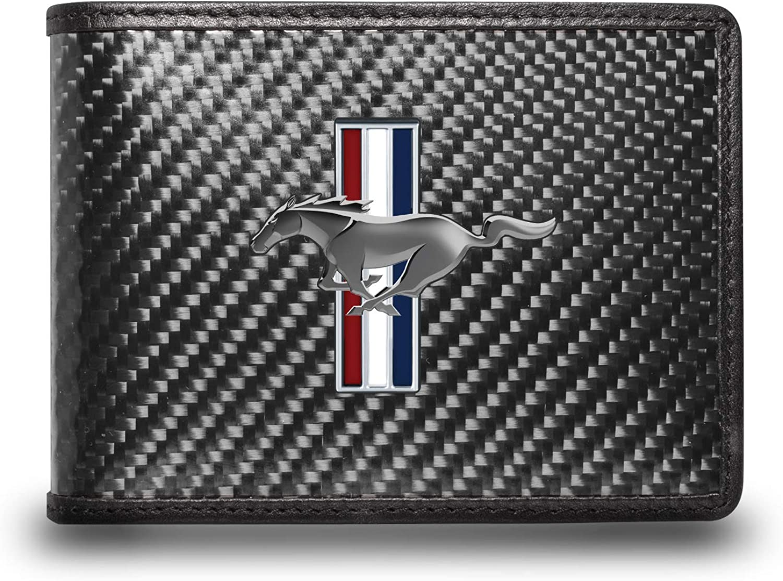 iPick 特別セール品 Image for 百貨店 - Ford Mustang Real Tri-Bar Carbon Fi Logo Black