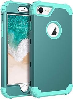 BENTOBEN Funda iPhone 7 Silicona Funda iPhone 8 3 en 1 Carcasa Combinada PC Híbrido y Silicona TPU Suave Fuerte Resistente PC Bumper a Prueba de Golpes Protectora Fundas para iPhone 7/8 (4.7)