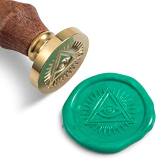 Mceal Wax Seal Stamp, Brass Head with Wooden Handle, 1.2
