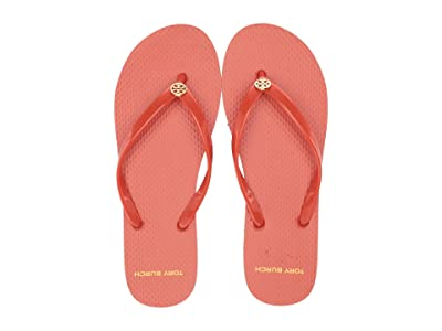 Tory Burch Thin Flip Flop (Canyon Orange/Canyon Stripe) Women