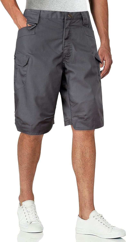 Alimens & Gentle Men's Hiking Tactical Shorts, Quick Dry Lightweight Outdoor Rip-Stop Cargo Shorts, 44W Dark Grey