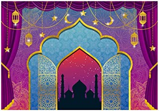 Funnytree 7x5FT Arabian Nights Moroccan Party Photography Backdrop for Birthday Magic Genie Indian Luxurious Background Photobooth