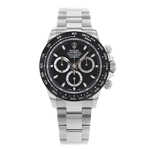 ROLEX Cosmograph Daytona Black Dial Stainless Steel Oyster Mens Watch 116500