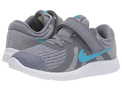 Nike Kids Revolution 4 (Infant/Toddler) (Cool Grey/Blue Fury/Pure Platinum/Black) Boys Shoes