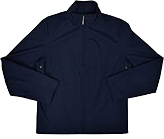 Brooks Brothers Men's Polyester Full Zip Lightweight Rain Coat Jacket Navy Blue