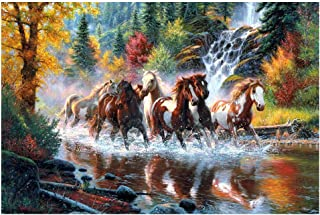 520/1000/1500 Pieces Large Jigsaw Puzzles Galloping Horses Puzzle Adult Children Wooden Puzzle Games Best Birthday Valenti...
