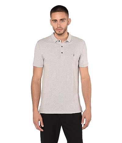 AllSaints Reform Short Sleeve Polo (Grey Marl) Men