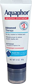 Aquaphor Healing Ointment With Touch-Free Applicator - For Dry, Chapped Skin - 3 oz. Tube