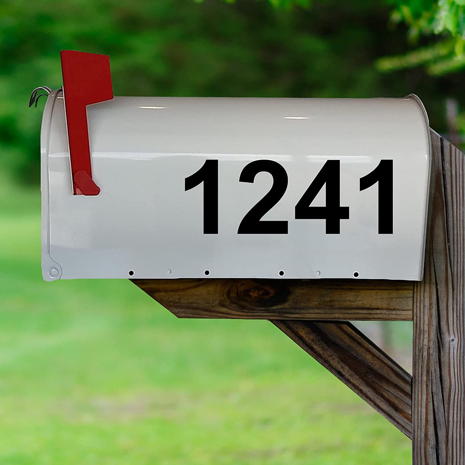 Mailbox Decals Fees free!! Street # Address Numbers Custom S Feature Limited price