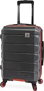 حقيبة كتف سوينر متينة من نوتيكا كويست, رمادي/برتقالي, Carry-On 21-Inch, حقيبة سفر كويست هارد سايد سبينر