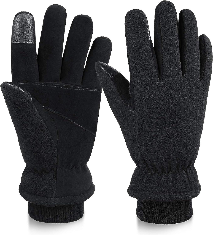 Heated Winter Gloves Men OFFer Women Deerskin Insu Touchscreen Mail order cheap Leather