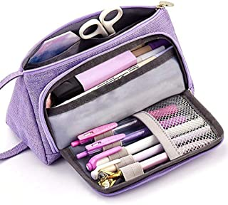 Pencil Case, Big Capacity Storage Bag Pen Pouch Holder Large Storage Stationery Organizer for School Supplies Office Teen Girls College School Boys Adult