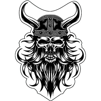 Amazon Com Wickedgoodz Bearded Warrior Viking Decal Norse Sticker Perfect Scandinavian Gift Automotive