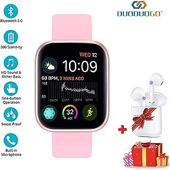 2 en 1 Montre Smart Watch avec Bluetooth,M1 AI Écouteur