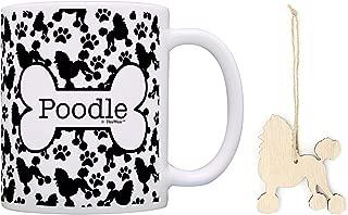 Poodle Christmas Ornament & Poodle Coffee Mug Tea Cup Bundle Dog Lover Stocking Stuffer